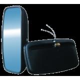 A – 11Š UNIVERSALUS (šildomas 12-24v) pusiau sferinis veidrodis 355x180 mm