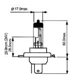 Halogeninė lemputė (cokolis P43T) H41210