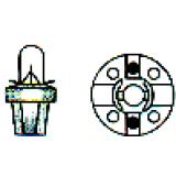 Lemputė prietaisų skydelio su plastmasiniu cokoliu MF2 (T5 B8.5D)