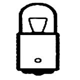 Lemputė pažibinčio maža T8S124 (cokolis BA9S) (bespalvė)