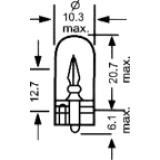 Lemputė  GT 25 3157 12V (įkišama)
