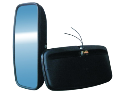 A – 11 UNIVERSALUS (nešildomas) pusiau sferinis veidrodis 355x180 mm